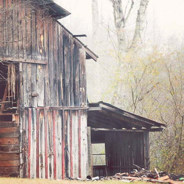 Barn Poster featuring the photograph Soft Morning by Kathleen Stevens Moore
