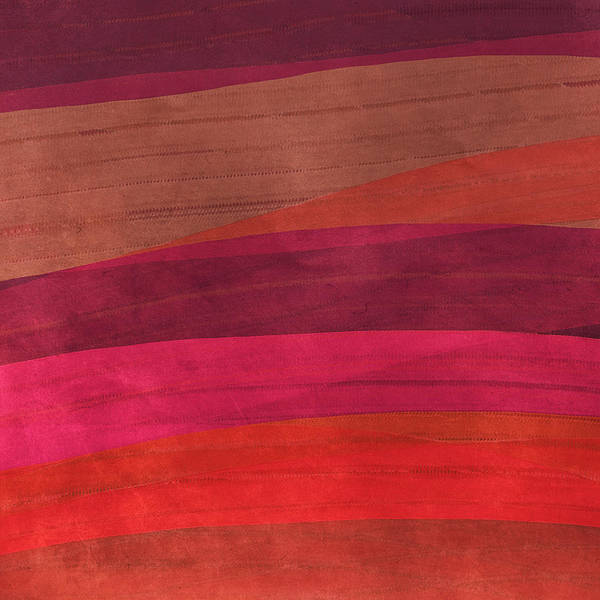 Abstract Poster featuring the digital art Southwestern Sunset Abstract by Bonnie Bruno