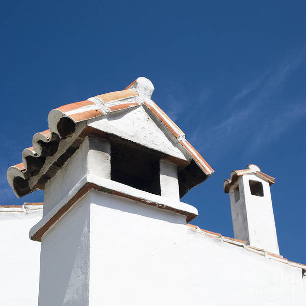 Annegilbert Poster featuring the photograph Spanish Rooftops by Anne Gilbert