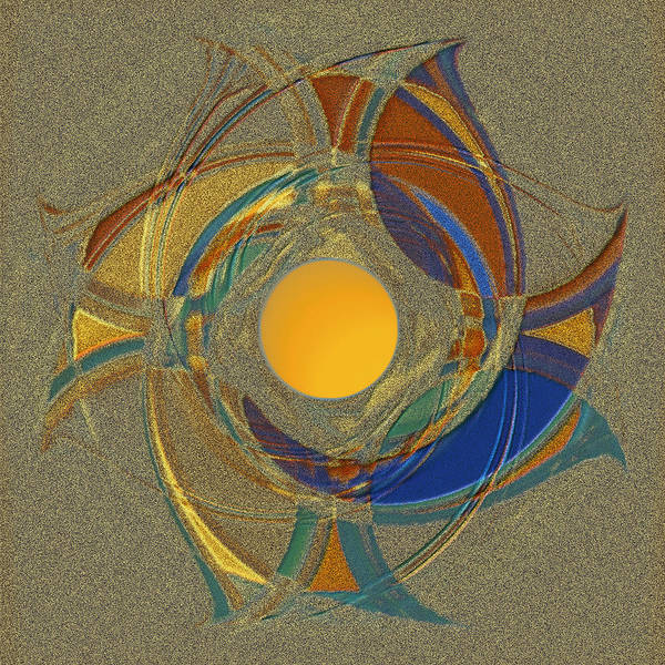 Geometric Abstract Poster featuring the digital art Spinners 2 by Warren Furman