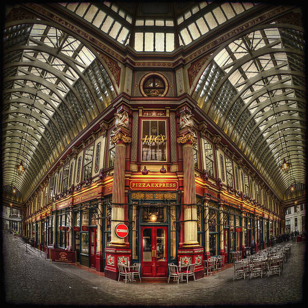 Leadenhall Market Poster featuring the photograph Split Indecision by Evelina Kremsdorf