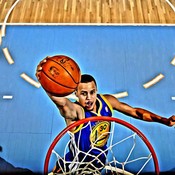 National Poster featuring the painting Steph Curry by Florian Rodarte