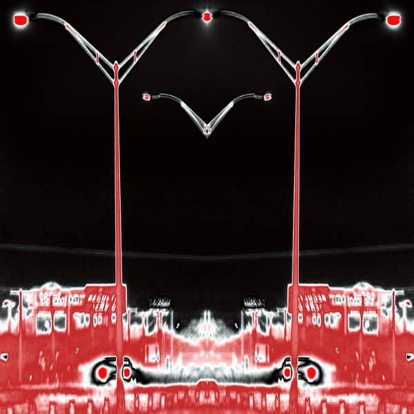 Streetlight Poster featuring the digital art Streetlight Serenade 3 by Wendy J St Christopher