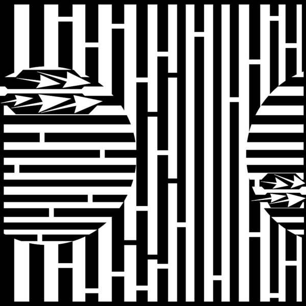 Sun Poster featuring the drawing Sun Re-rising Maze by Yonatan Frimer Maze Artist