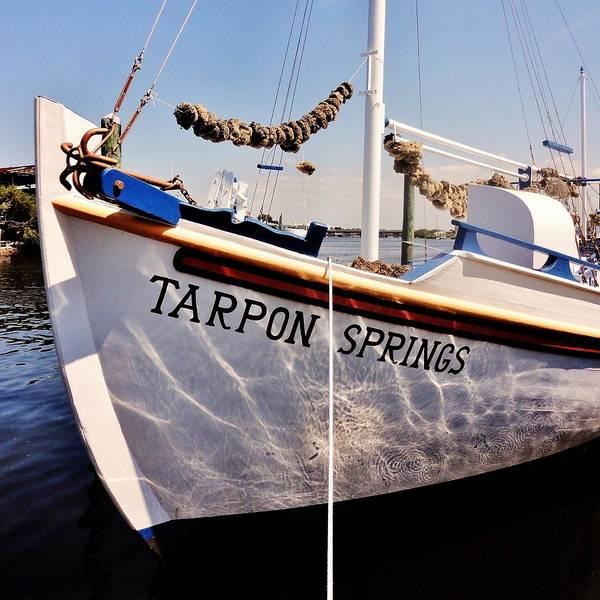 Tarpon Poster featuring the photograph Tarpon Springs Spongeboat by Benjamin Yeager