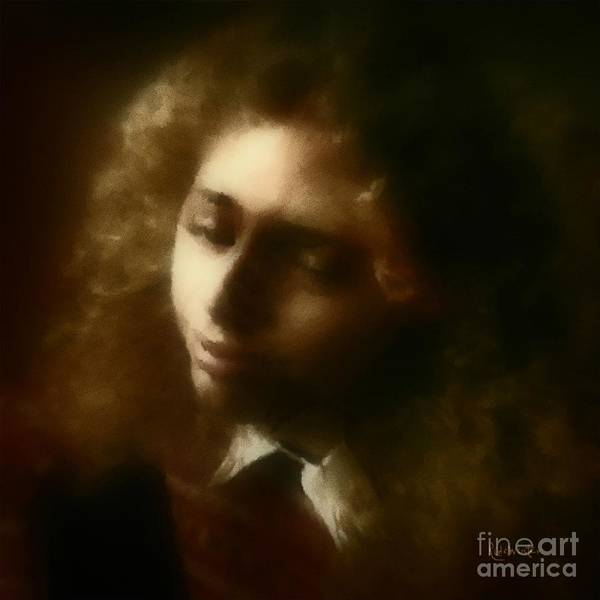 Girl Poster featuring the painting The Daydream by RC DeWinter