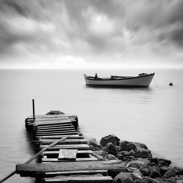 Seascape Poster featuring the photograph The Pier by Taylan Apukovska
