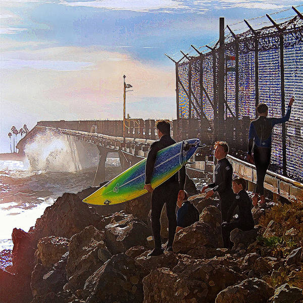 Surfer Poster featuring the photograph The Point Of No Return by Ron Regalado