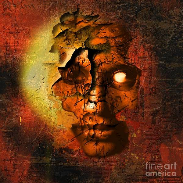 Person Poster featuring the digital art The Resurrection Of Doom by Franziskus Pfleghart