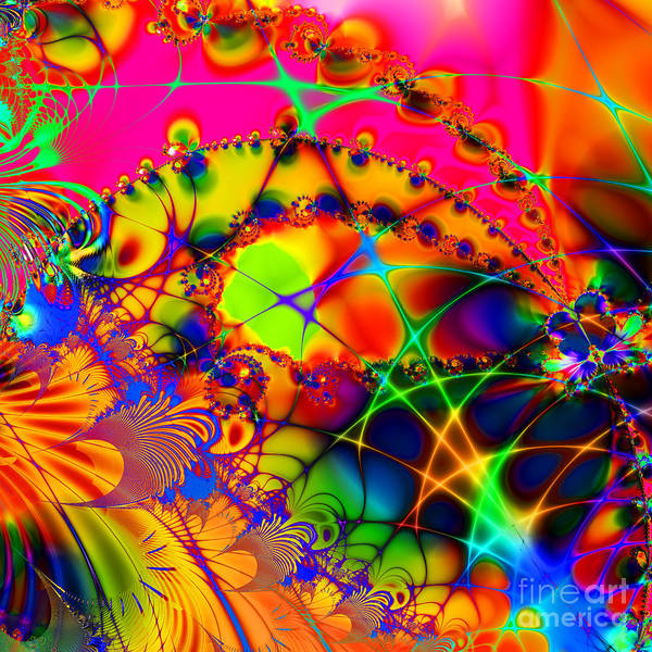 Fractal Poster featuring the digital art There Are Places I Remember 20130510 Square V2 by Wingsdomain Art and Photography