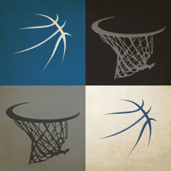 Timberwolves Poster featuring the photograph Timberwolves Ball And Hoop by Joe Hamilton