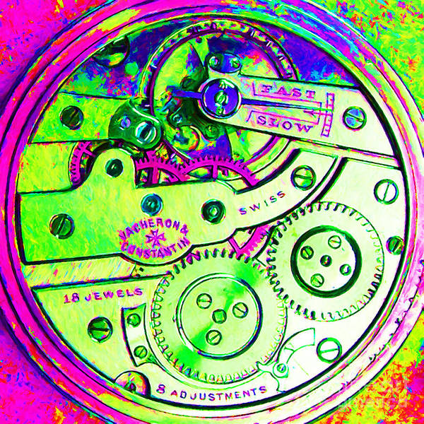 Steampunk Poster featuring the photograph Time In Abstract 20130605m108 Square by Wingsdomain Art and Photography