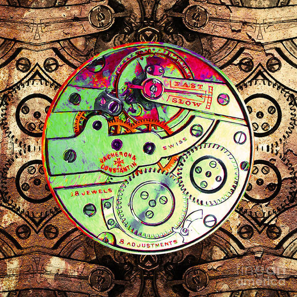 Steampunk Poster featuring the photograph Time Machine 20130606 Square by Wingsdomain Art and Photography