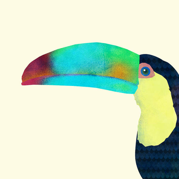 Bird Poster featuring the drawing Toucan by Eric Fan