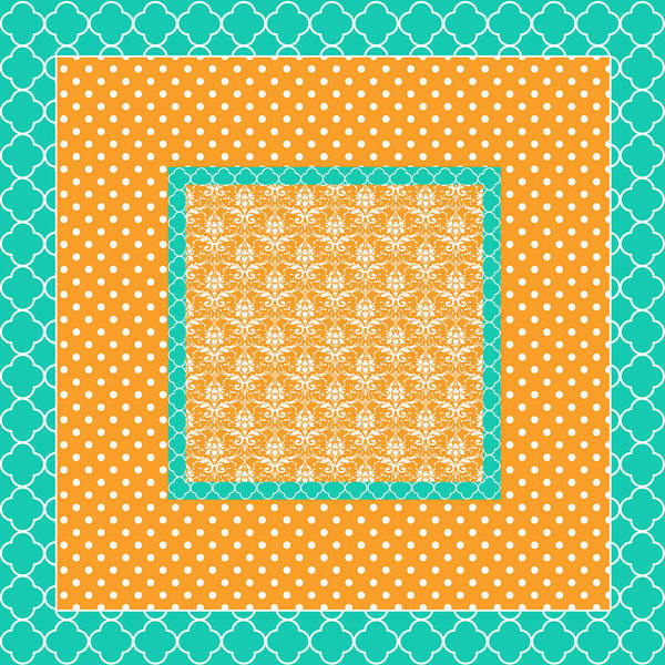 Digital Art Poster featuring the digital art Turquoise Pumpkin Abstract by Bonnie Bruno
