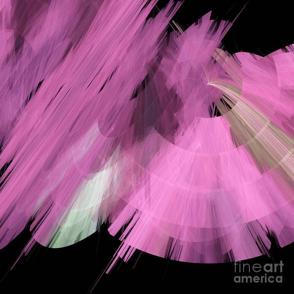 Ballerina Poster featuring the digital art Tutu Stage Left Abstract Pink by Andee Design