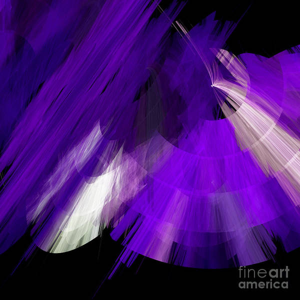 Ballerina Poster featuring the digital art Tutu Stage Left Abstract Purple by Andee Design
