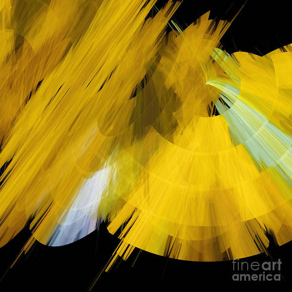Ballerina Poster featuring the digital art Tutu Stage Left Abstract Yellow by Andee Design