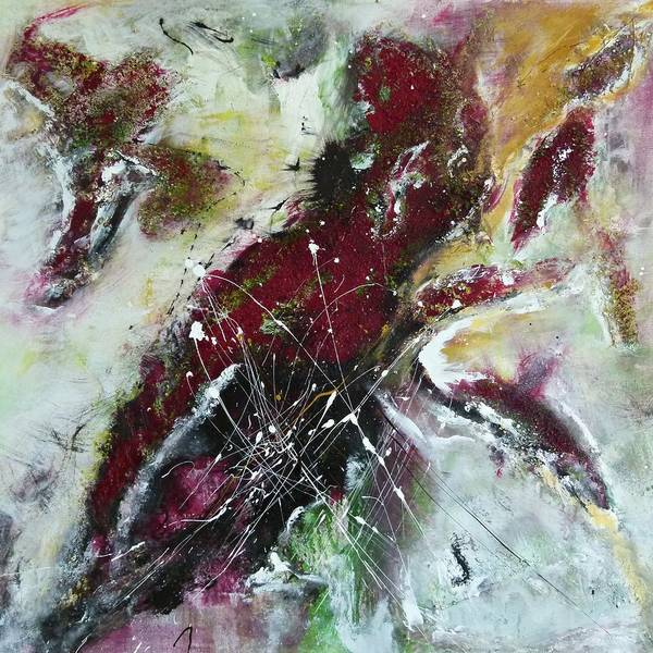 Painting Poster featuring the painting Universe- Abstract Art by Ismeta Gruenwald