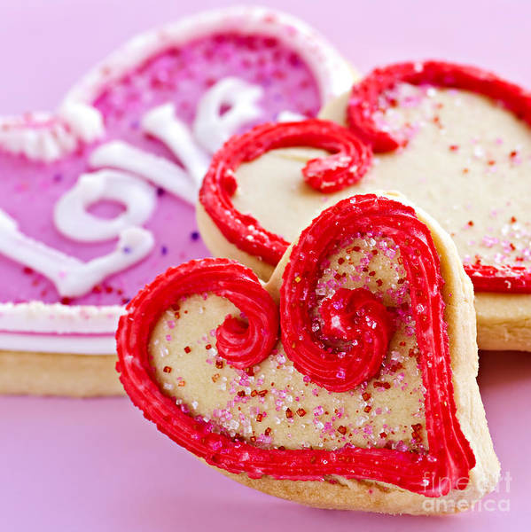 Cookies Poster featuring the photograph Valentines Hearts by Elena Elisseeva