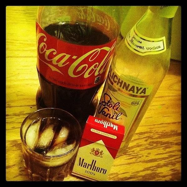 Vanilla Vodka, Coke And Marlboro Reds Poster