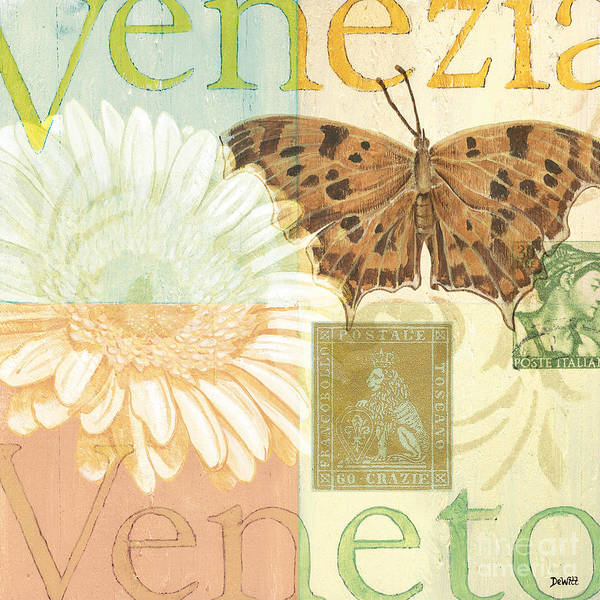 Venice Poster featuring the painting Venezia by Debbie DeWitt