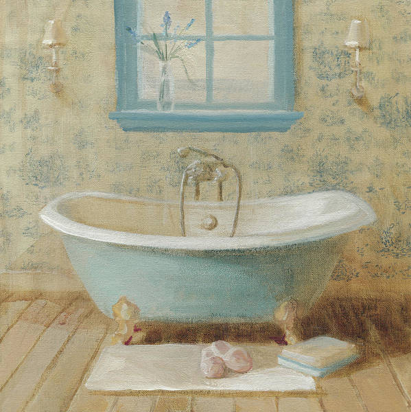 Bath Poster featuring the painting Victorian Bath I by Danhui Nai