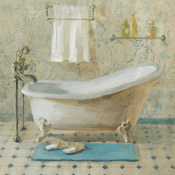 Bath Poster featuring the painting Victorian Bath IIi by Danhui Nai