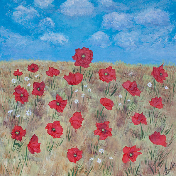 Poppy Poster featuring the painting Victorious by Sasha Moye