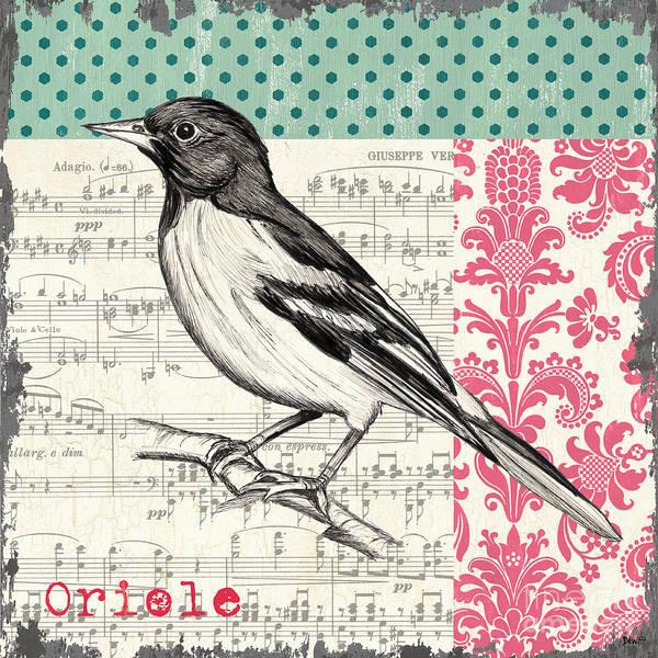 Bird Poster featuring the painting Vintage Songbird 2 by Debbie DeWitt