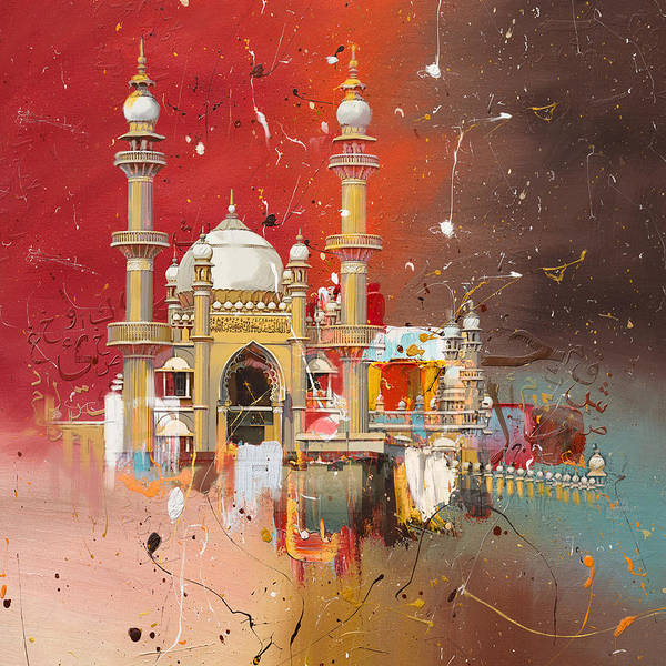 Vizhinjam Mosque Poster featuring the painting Vizhinjam Mosque by Corporate Art Task Force
