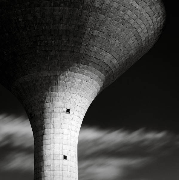 Water Tower Poster featuring the photograph Water Tower by Dave Bowman