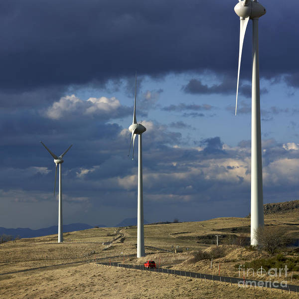 Alternative Poster featuring the photograph Wind Turbines. Region Auvergne. France by Bernard Jaubert