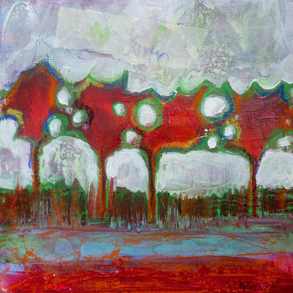 Acrylic Poster featuring the painting Winter Day Walk by Sandrine Pelissier
