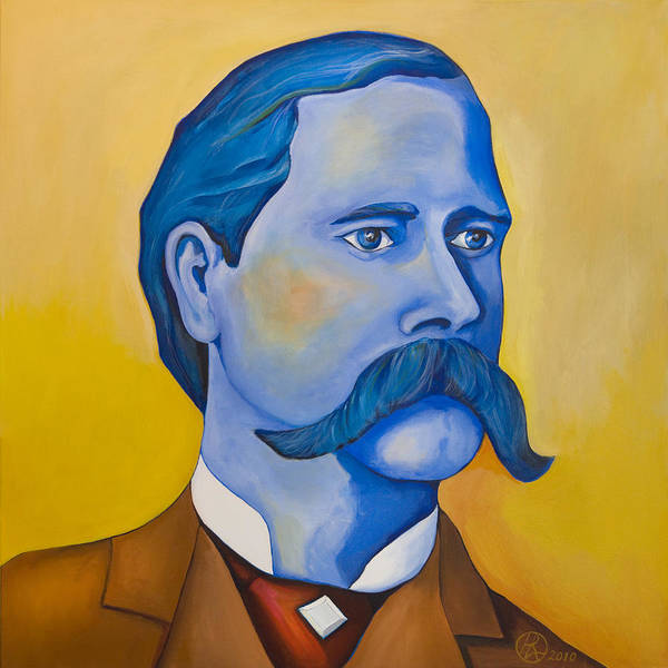 Wyatt Earp Poster featuring the painting Wyatt Earp by Robert Lacy
