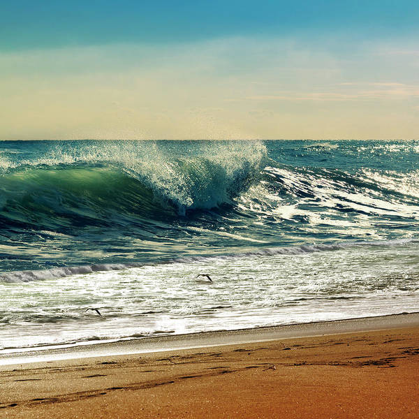 Waves Poster featuring the photograph Your Moment Of Perfection by Laura Fasulo
