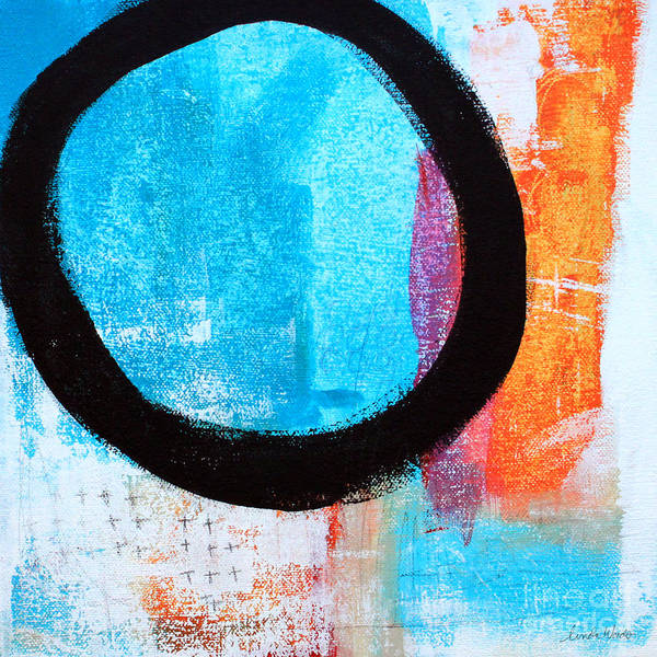 Abstract Poster featuring the painting Zen Abstract #32 by Linda Woods