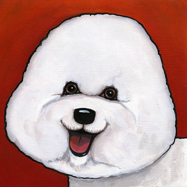 Dog Poster featuring the painting Bichon Frieze by Leanne Wilkes