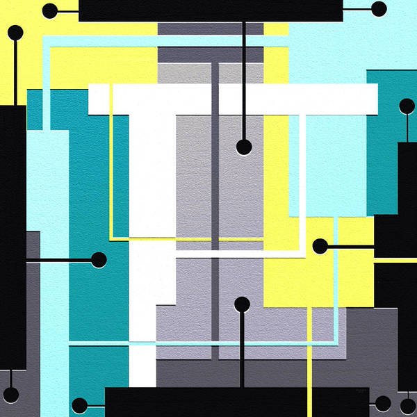 Abstract Art Poster featuring the painting Fresh by Ely Arsha
