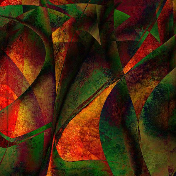 Digital Art Poster featuring the digital art Merging by Amanda Moore