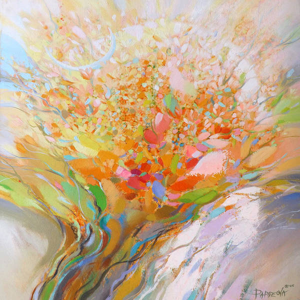 Abstract Poster featuring the painting Spring 2 by Petia Papazova
