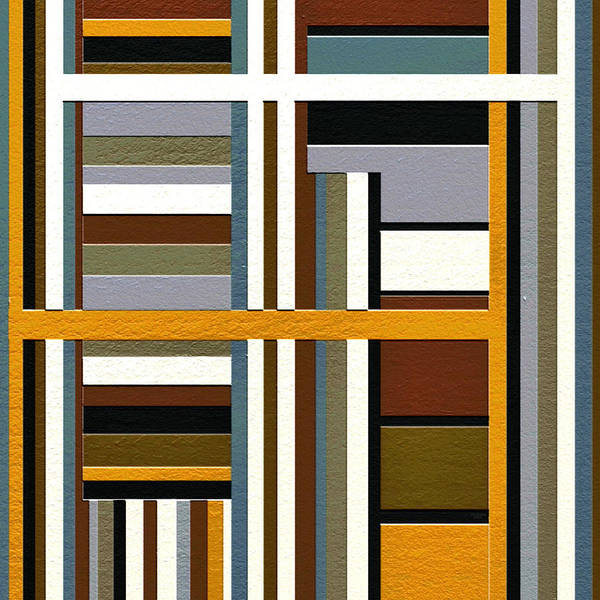 Abstract Art Poster featuring the painting Work by Ely Arsha