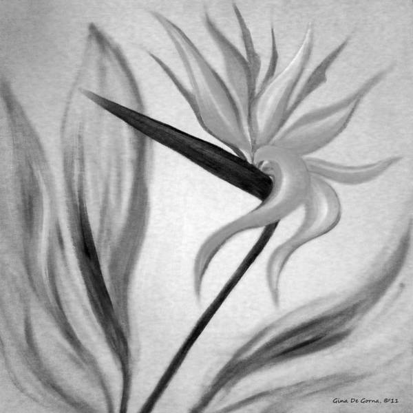 Flowers Poster featuring the painting Bird Of Paradise by Gina De Gorna