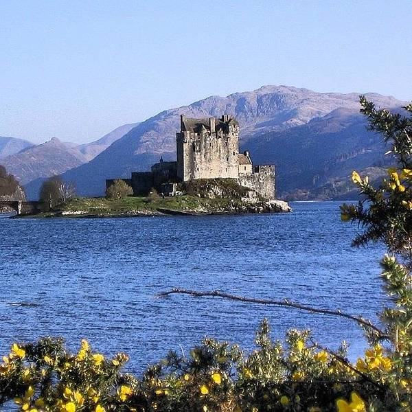 Old Poster featuring the photograph Scottish Castle 2 by Luisa Azzolini