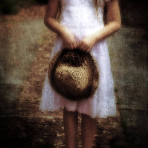 Girl Poster featuring the photograph Straw Hat by Joana Kruse