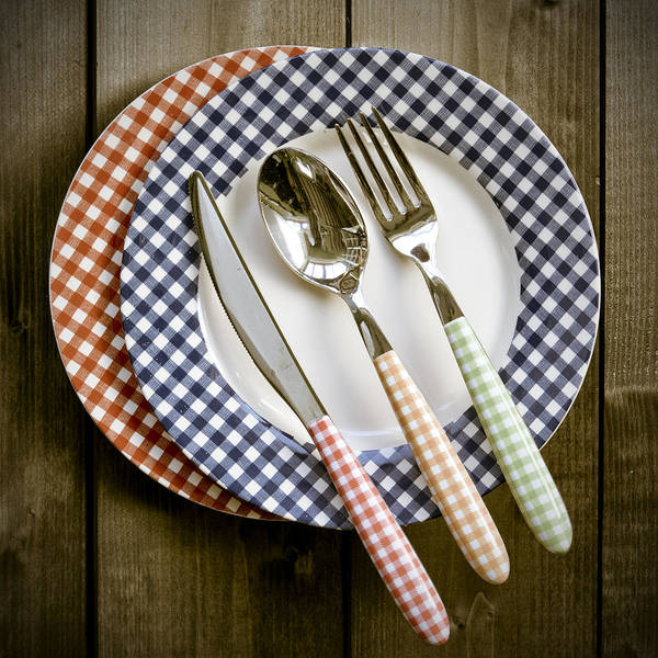 Cutlery Poster featuring the photograph Rural Plates by Joana Kruse