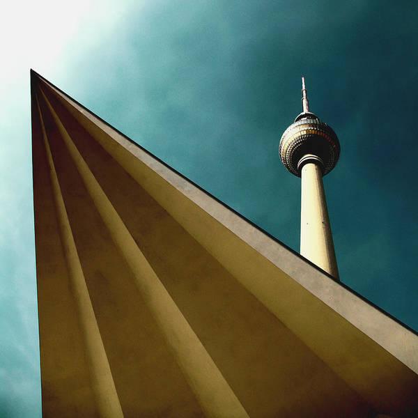 Berlin Tv Tower Poster featuring the photograph Berlin Tv Tower by Falko Follert