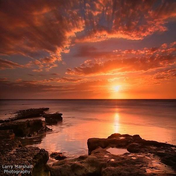 Poster featuring the photograph Long Exposure Sunset At A North San by Larry Marshall