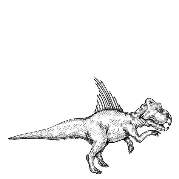Cartoon Poster featuring the drawing Archaeoceratops - Dinosaur by Karl Addison