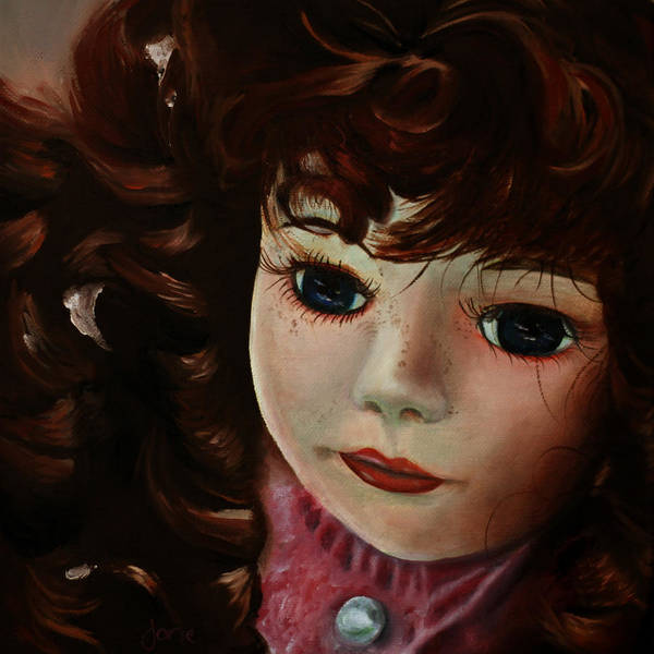 Doll Painting Poster featuring the painting Autumn by Jane Autry